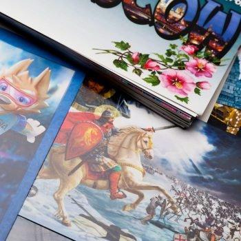 Печать открыток в Московской типографии